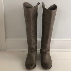 Frye Grey Leather Riding Boot 7.5